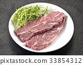 steak, beefsteak, beef 33854312