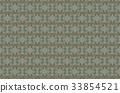 Greenish seamless background of  intertwined birds 33854521