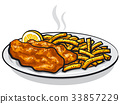 battered fish and chips 33857229