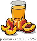 juice, peach, fresh 33857252