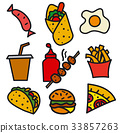 food, vector, illustration 33857263