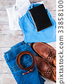 Man's clothes lifestyle shoes flat lay 33858100