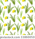 Happy Sukkot seamless pattern. Jewish holiday huts 33860050