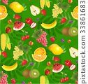 all fruits seamless patterns 33861683
