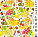 all fruits seamless patterns 33861684