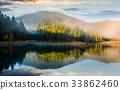 lake, forest, sunrise 33862460