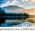 lake, forest, sunrise 33862462
