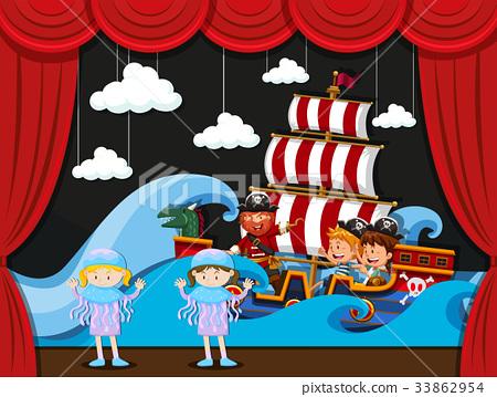 Children acting on stage 33862954