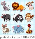 many animal sticker 33862959