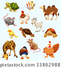 Sticker design with wild animals 33862988