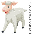 White sheep with happy face 33862991