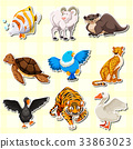 animal cute sticker 33863023
