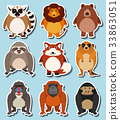 Sticker design for wild animals 33863051