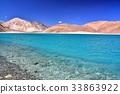 lake, saline, mountain 33863922