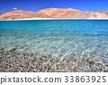 lake, saline, mountain 33863925