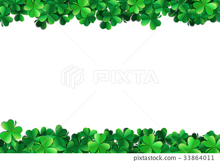 Saint Patricks day background with sprayed green 33864011