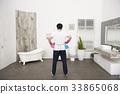 남자, 뒷모습, 욕실 33865068