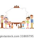 ครอบครัว,ยิ้ม,รอยยิ้ม 33869795
