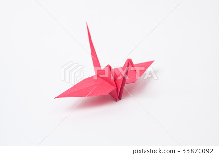 摺紙紅色起重機 33870092