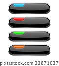 black, button, web 33871037