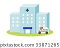 병원과 구급차 33871265