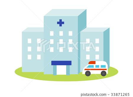 醫院和救護車 33871265