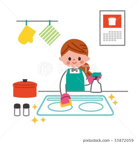Kitchen kitchen cleaning 33872059