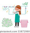 세탁, 빨래, 여성 33872060