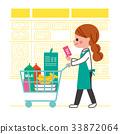 購物 購物車 手推車 33872064