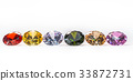 colorful gems on white background 33872731