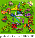 cartoon insects animal characters group 33872801