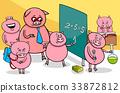piglet cartoon characters at school 33872812