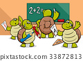 turtle cartoon characters in classroom 33872813