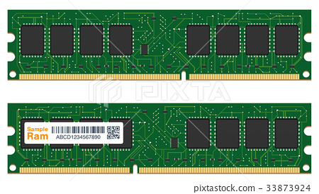 real random access memory or RAM computer  33873924