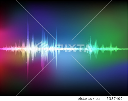 abstract digital sound wave oscillating background 33874094