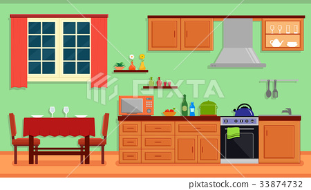 kitchen room interior for family home 33874732