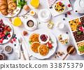 Assorted healthy breakfast 33875379