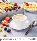 Healthy breakfast with coffee and cereals 33875489