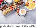 Healthy breakfast with coffee and cereals 33875492
