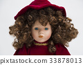 Ceramic porcelain handmade doll with red dress 33878013