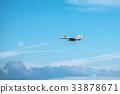 戰鬥機在天空中飛翔 33878671