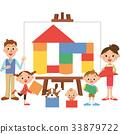 家庭積木帆布 33879722