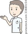 白色外套的男性護士指導的例證 33880154