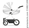 carriage baby illustration 33882189