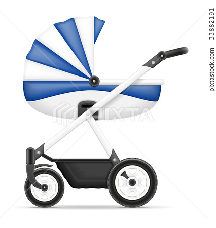 baby carriage stock vector illustration 33882191
