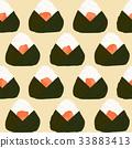 onigiri pattern salmon 33883413