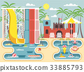 Vector illustration of exterior water park 33885793
