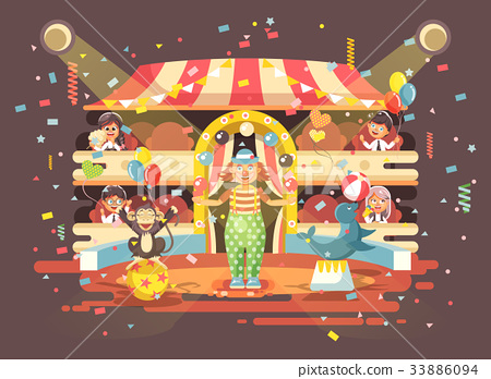 Vector illustration cartoon characters children 33886094