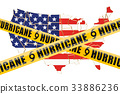 Hurricane in USA concept, 3D rendering 33886236