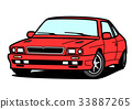 Italian sports coupe red car illustration 33887265